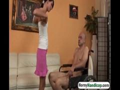 Nice romantic video category sexy (433 sec). Olah Zsofia fucks an amputee in a wheelchair.