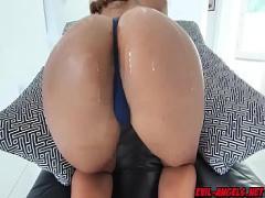Super seductive video category interracial (390 sec). Kevin Moore fucks Harley Deans pussy on top.