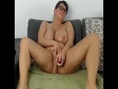 Sex pornography category big_tits (390 sec). Busty chubby milf toying pussy for cumming free show.
