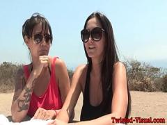 Download youtube video category lesbian (390 sec). Busty milf pussylicked in car at the beach.