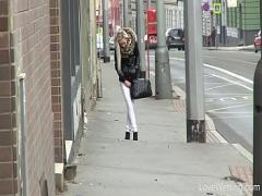 Sex video category pissing (390 sec). Pretty Young Girl Bursting To Pee At Bus Stop, She Fails To Avoid An Accident.