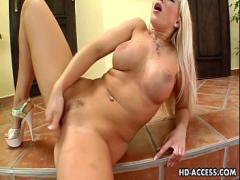 Best video list category blonde (341 sec). Big tit blonde Cindy uses a glass dildo.