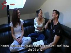 Full stream video category cumshot (328 sec). Busty masseuse jerking.