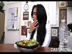 XXX stream video category cumshot (300 sec). Voracious brunette gal Selena Santana chose the biggest sausage.