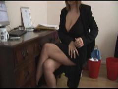 Nice video category blonde (449 sec). Busty mature blonde secretary strips and spreads.