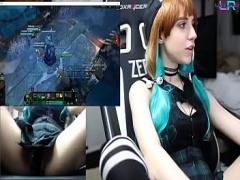 Genial videotape recording category cam_porn (4626 sec). Teen Playing League of Legends with an Ohmibod 1/2.