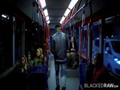 XXX porno category cumshot (773 sec). BLACKEDRAW Two Beauties Fuck Giant BBC On Bus!.