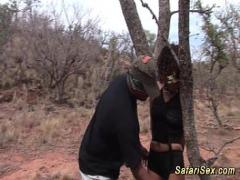 Sex video category exotic (766 sec). babe punished at the safari trip.